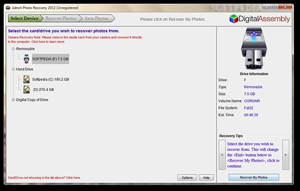 Adroit Photo Recovery Alternative Software for Mac and Windows