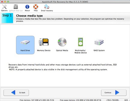 applexsoft file recovery software