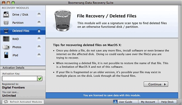 Boomerang Data Recovery