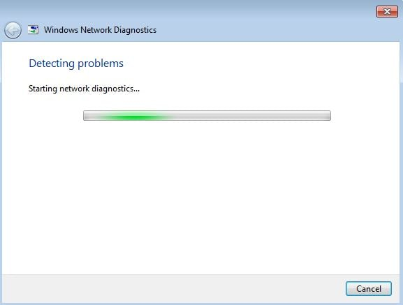 Windows can't connect to internet