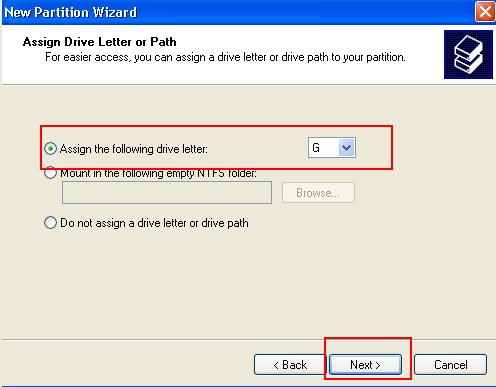 create partition windows xp