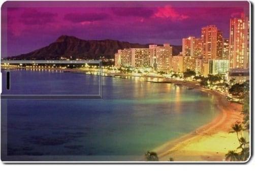 Water dusk Hawaii image usb flash drive