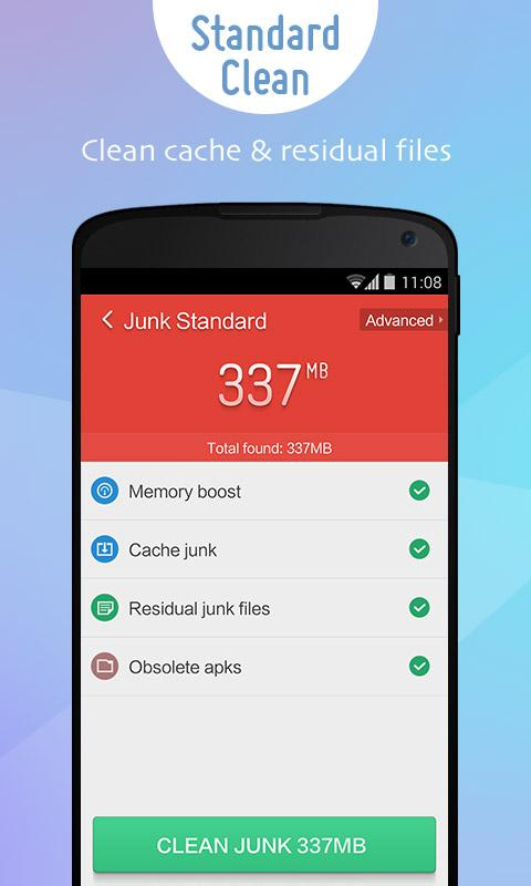 delete junk files on android