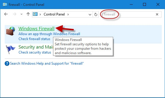 enable windows firewall
