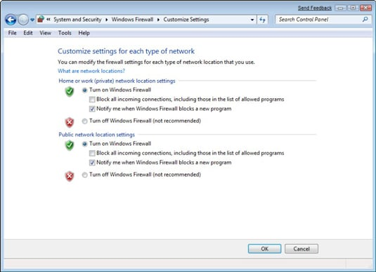 enable windows computer firewall