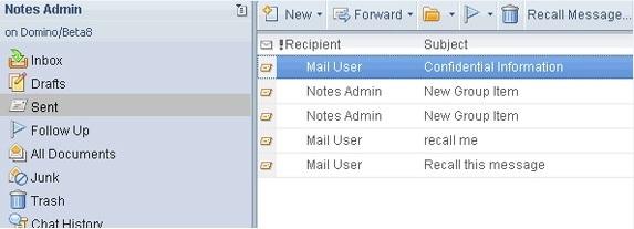 how to recover a sent mail in lotus notes