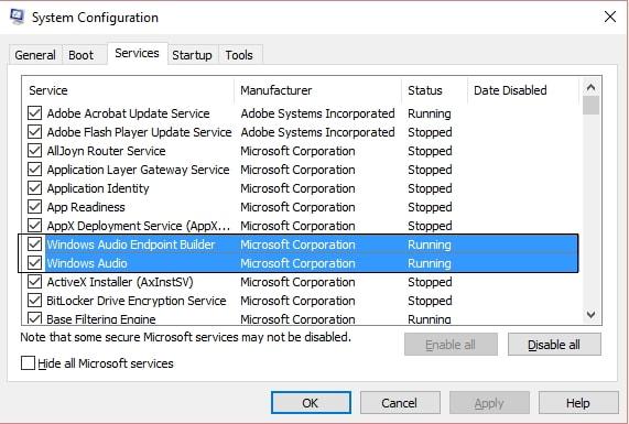 no sound on windows error fixed