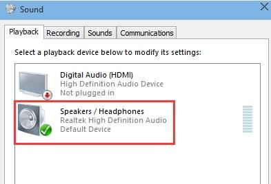 no sound through headphone error fixed