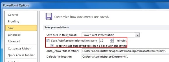 recover ppt file