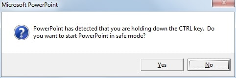 powerpoint corrupt file recovery safe mode