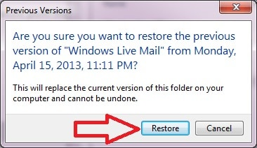 recover deleted emails in windows live mail account