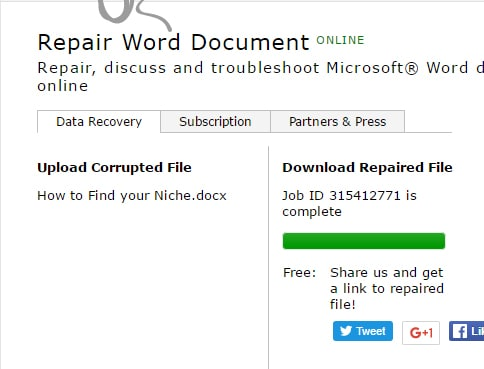 repair word docuemnt online
