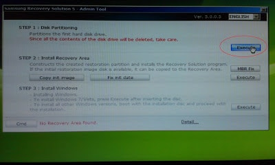 access samsung recovery partition