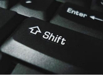 Shift key not working