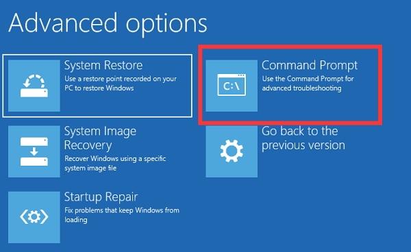 fix unmountable boot volume error