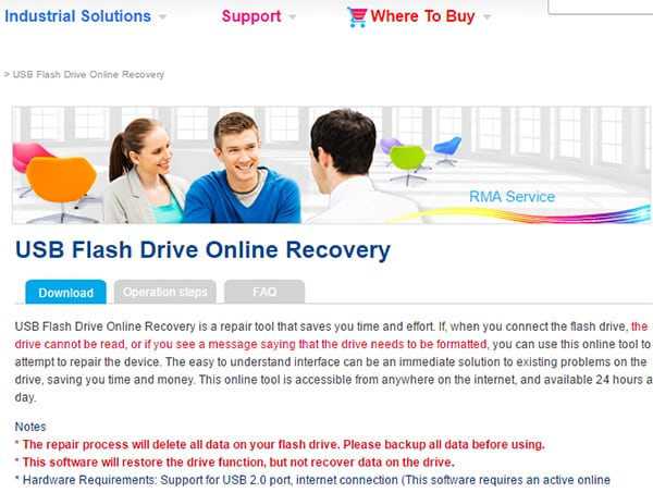 usb flash online recovery