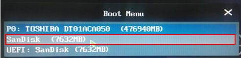 directly boot from external usb drive