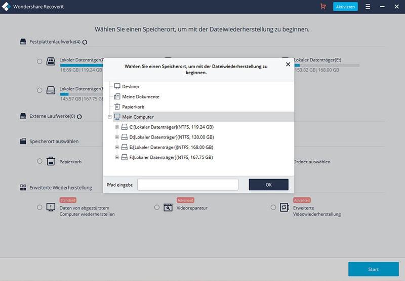 Wiederherstellen von Dateien auf einer beschädigten SD Karte