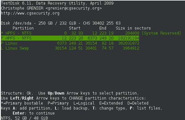recover data from partition