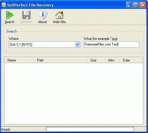 launch softperfect file recovery