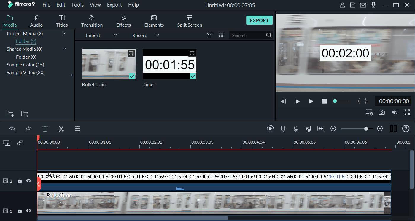 how to add timer on video