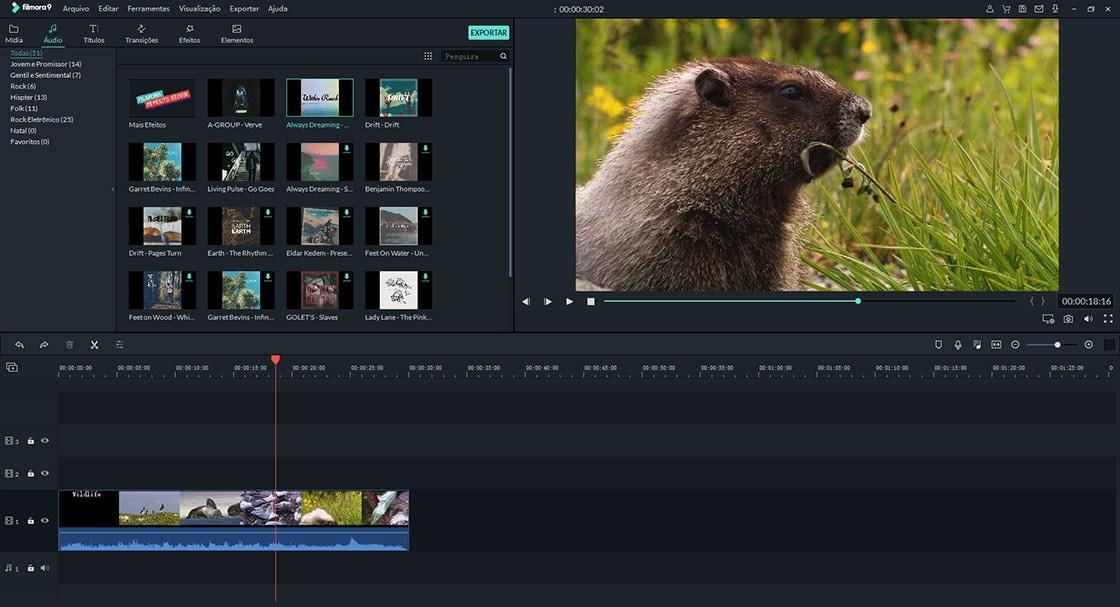 software de edição de vídeo de casamento