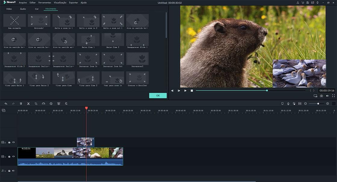 personalizar vídeo sobreposto