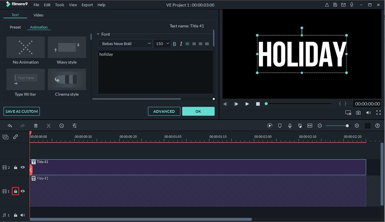 make glitch text using filmora