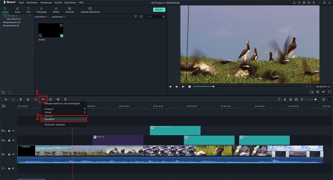 Geschwindigkeitseffekt | Filmora Video Editor