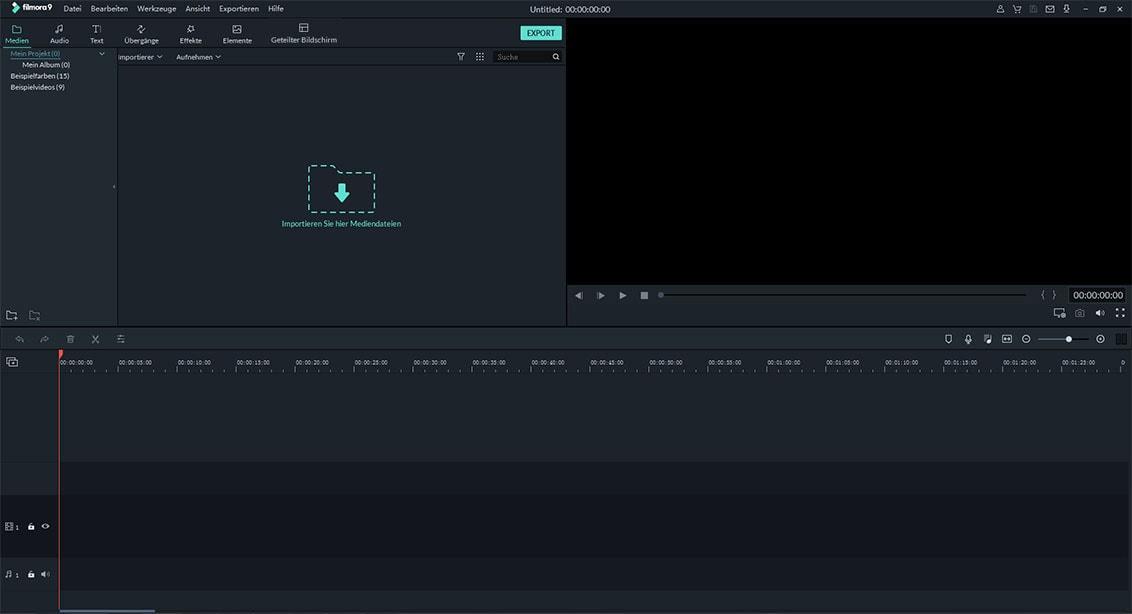zeitlupen video-editor starten
