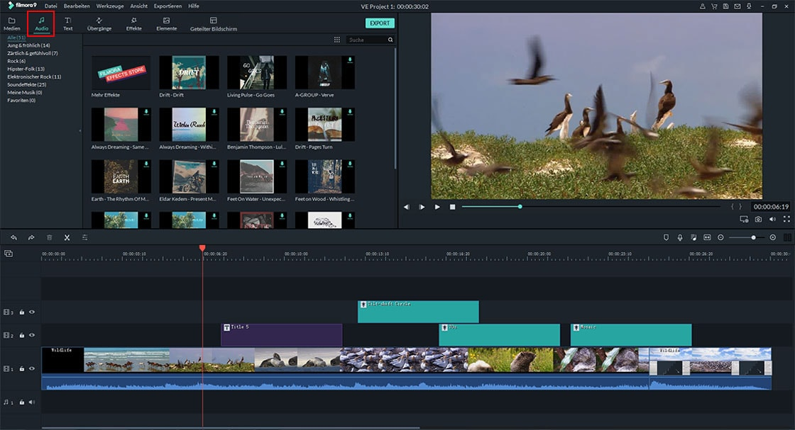 video und audio zusammenfügen