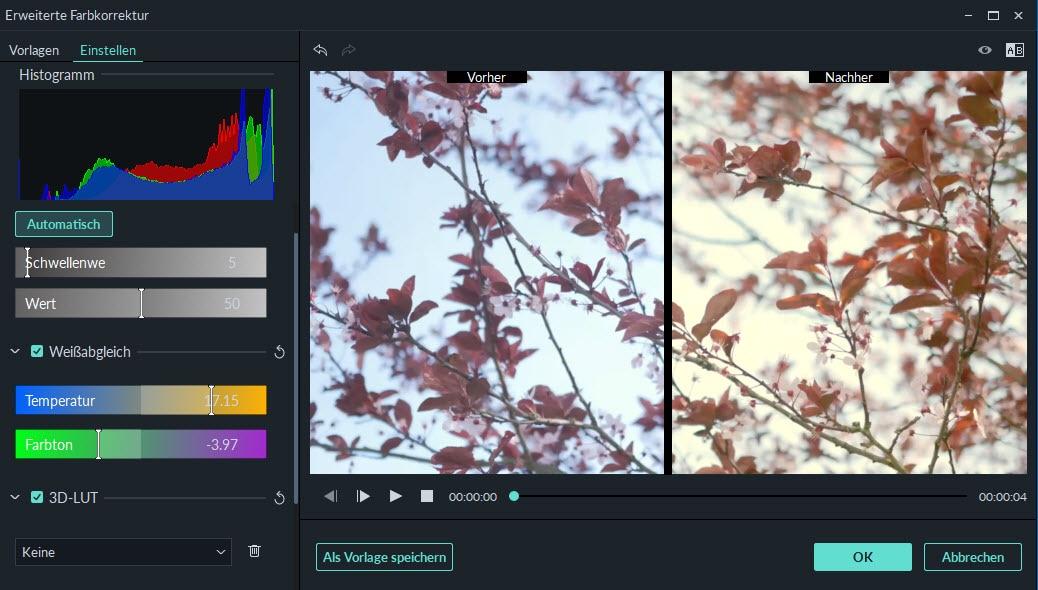 Video Farbanpassung – wie kann man Video-Farben ändern und korrigieren