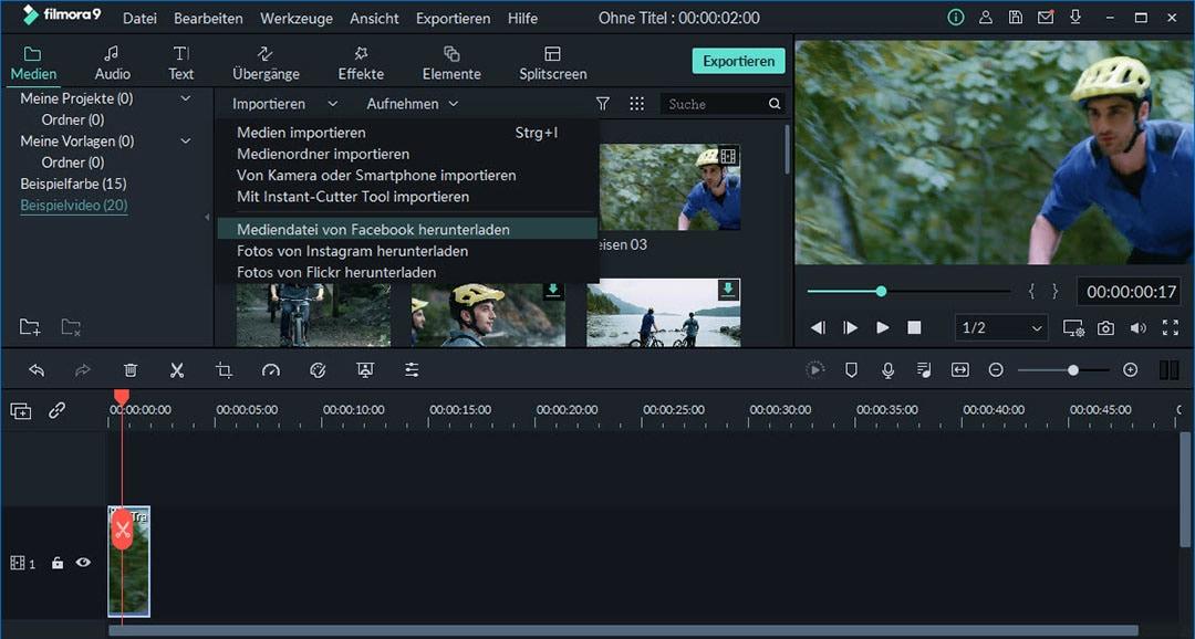 facebook live video importieren