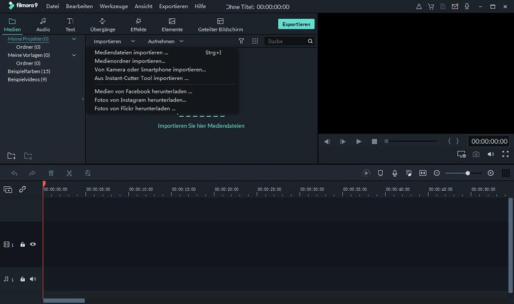 videos zur bearbeitung importieren