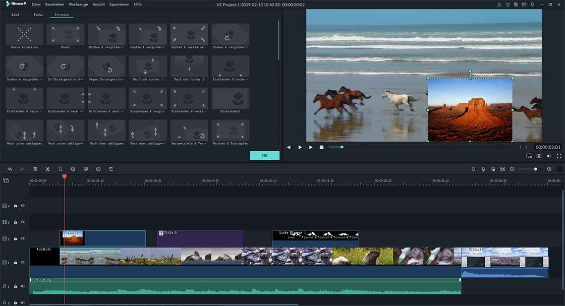 Dauer des Overlay-Videos bearbeiten