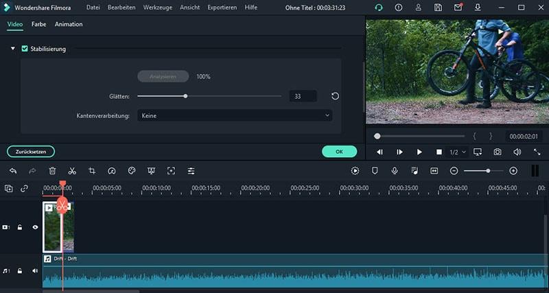 Videos stabilisieren