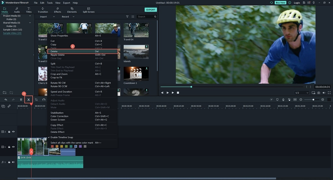 how to cut video in movie maker windows 10