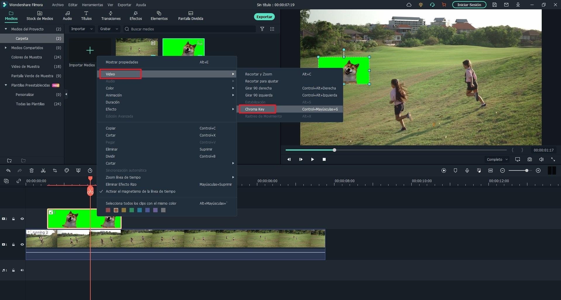 software para editar videos de pantalla verde