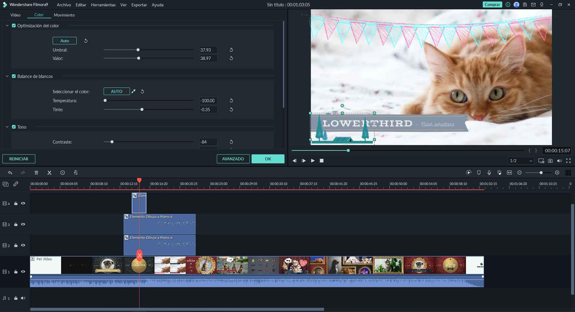 editor de videos navideños gratis