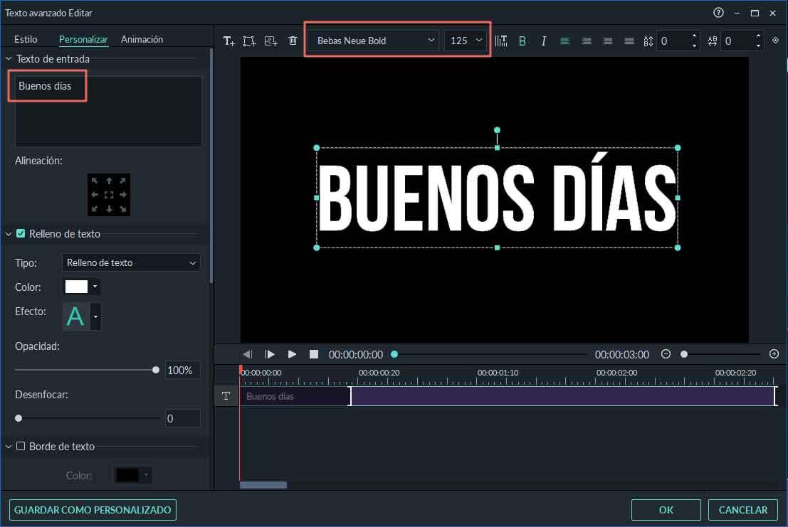 añadir texto de glitch on video