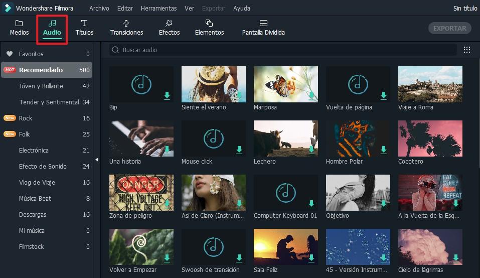 insertar música de vídeo