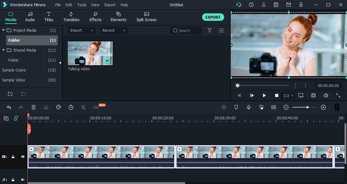 export to filmora timeline
