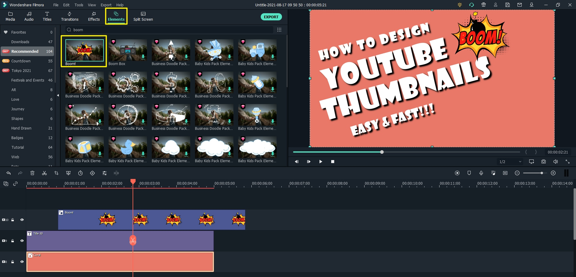 add element for youtube thumbnail