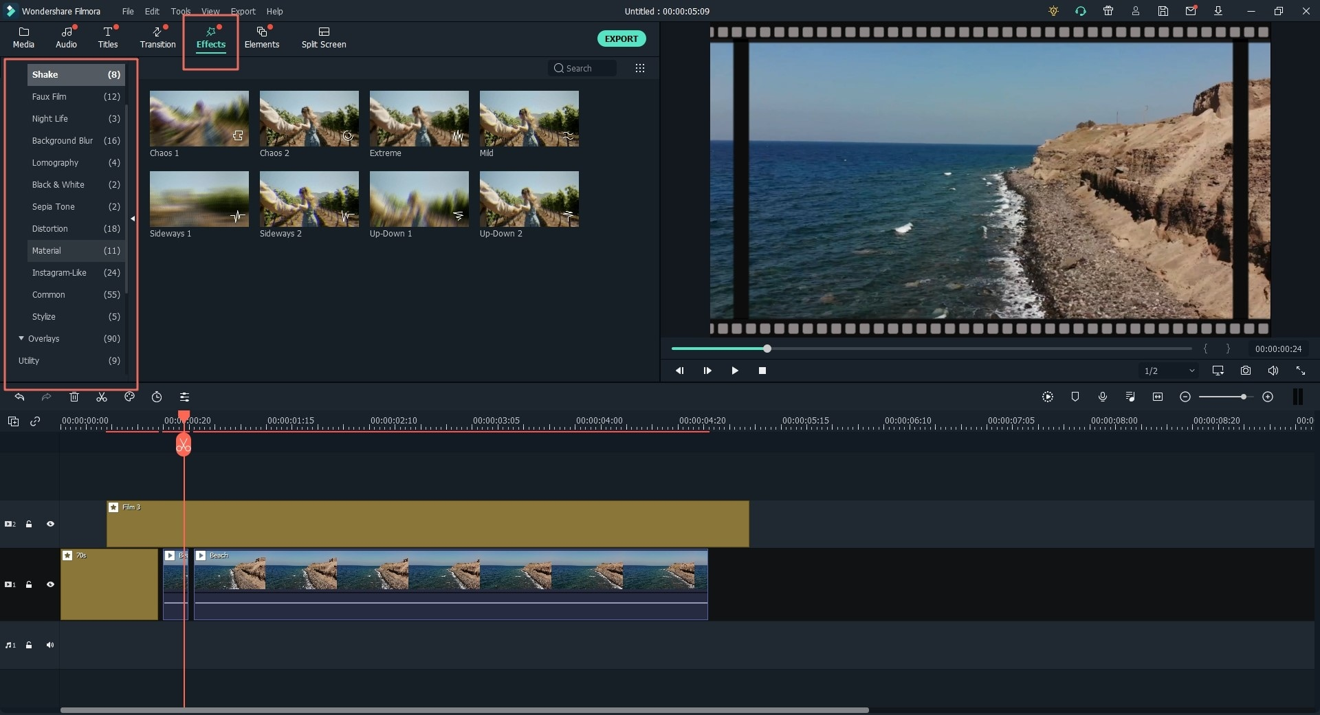 how to add filter effects to video
