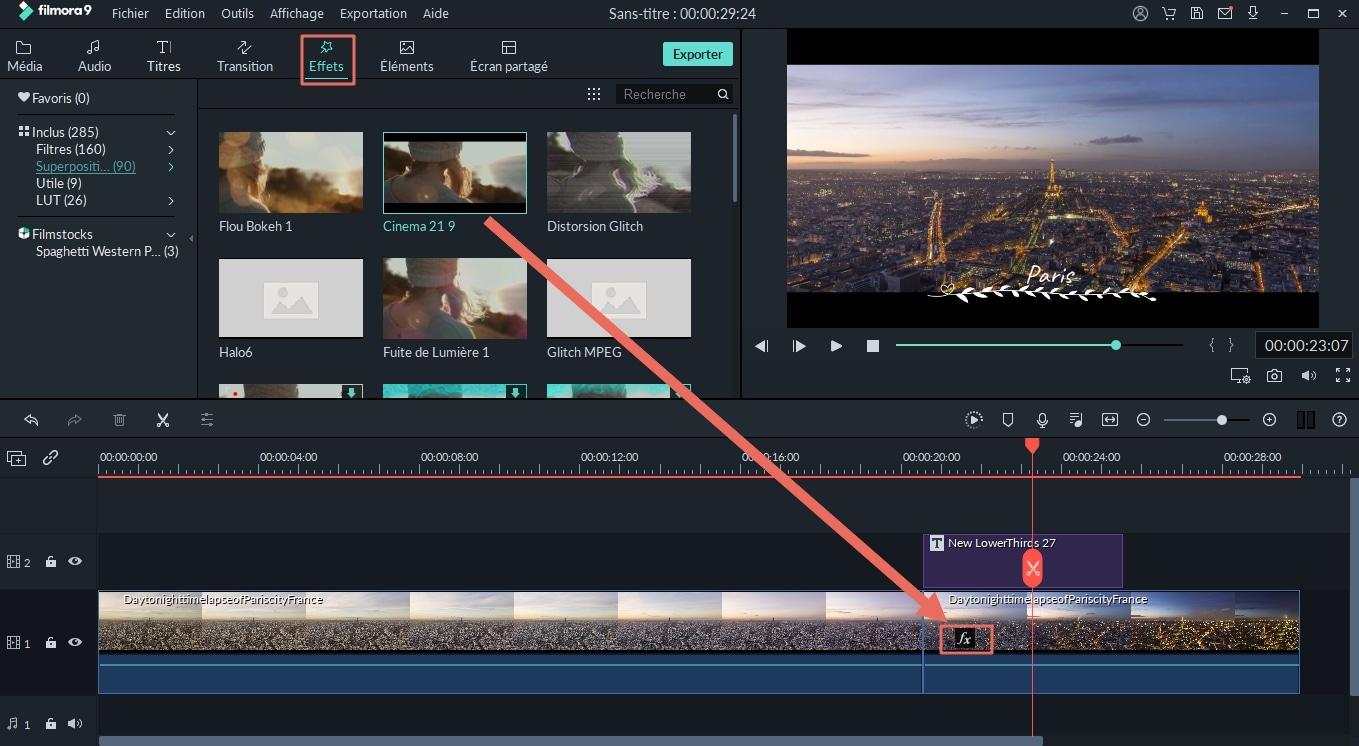 ajouter des effets à une vidéo en streaming