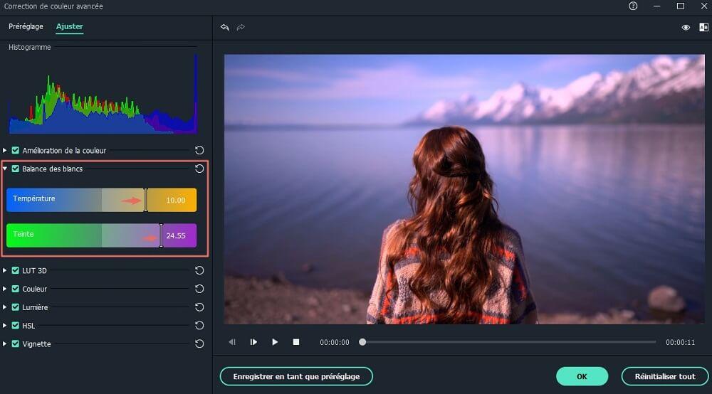 éditeur de couleur vidéo
