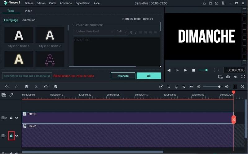 créer un texte glitch avec filmora