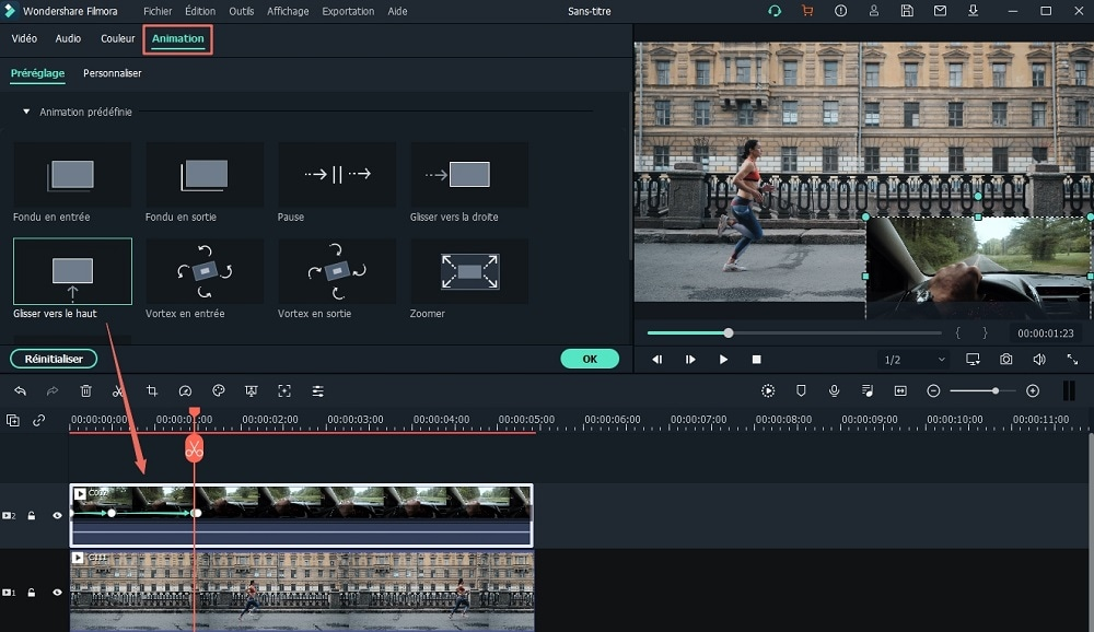 effet de mouvement video