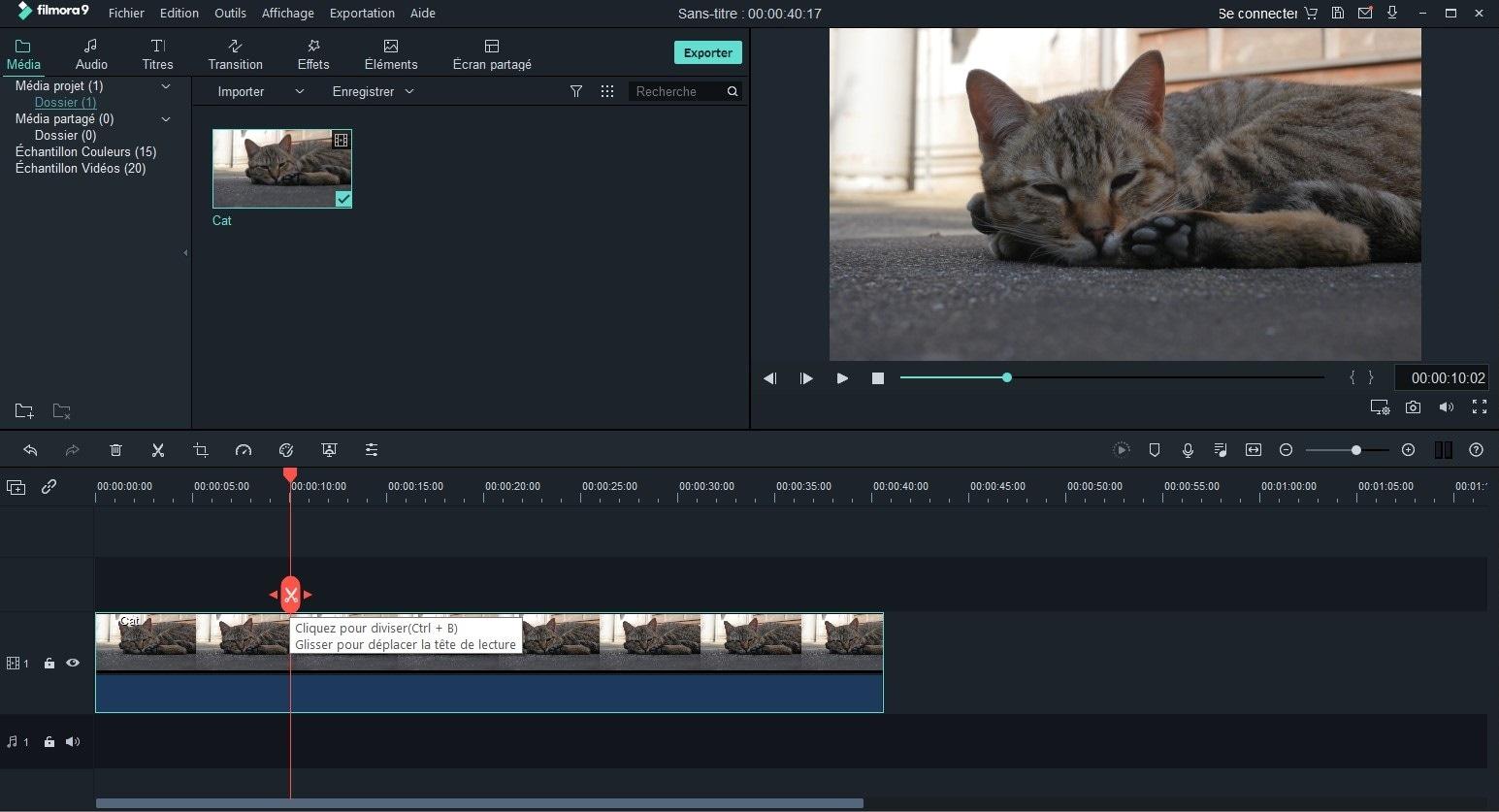 séparation rapide des clips vidéo