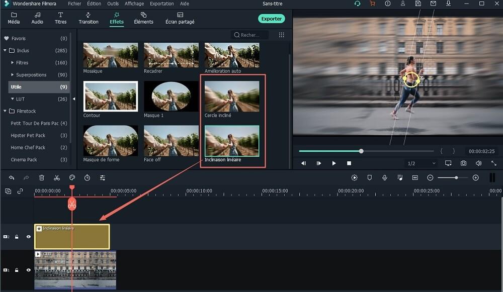 trouver et appliquer un effet tilt shift sur votre vidéo